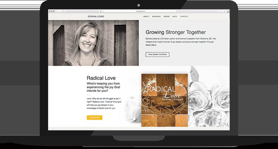 Author Website Homepage Design