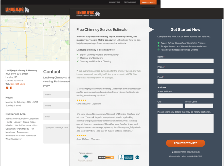 Local Business Website Contact Forms
