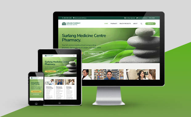 Website Portfolio Item - Pharmacy Website Designer