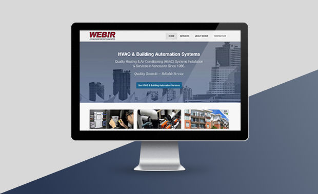 Website Portfolio Item - Vancouver HVAC Web Design